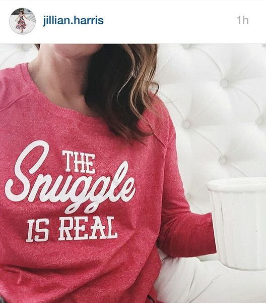Jillian Harris, wearing The Snuggle is Real Sweater @jillianmharris //   Like what you see? Don't forget to follow us ~ Sweater Wonderland