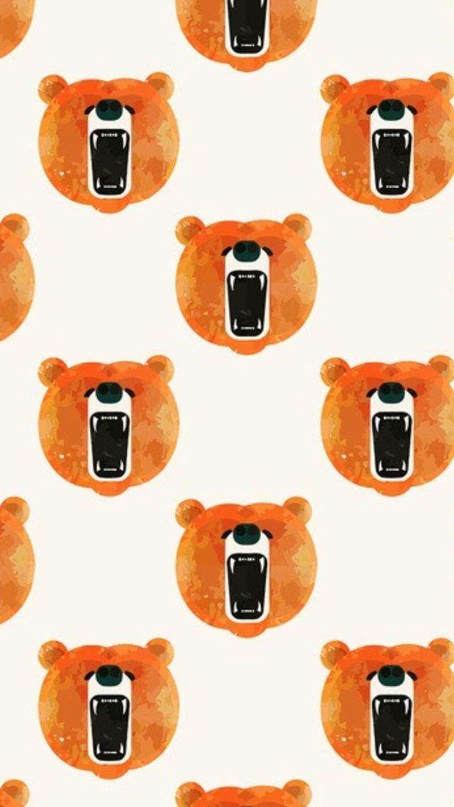 Bear ★ Find more Funky Patterns for your #iPhone + #Android @iPhone Wallpapers