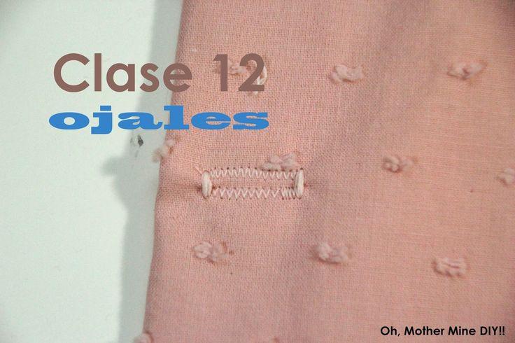 OJALES - Clase de costura 12. Cómo hacer ojales a máquina