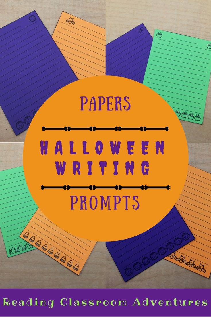 Fall Writing Prompts for Kindergarten or First Grade  Includes prompts for Halloween  writing  Pinterest