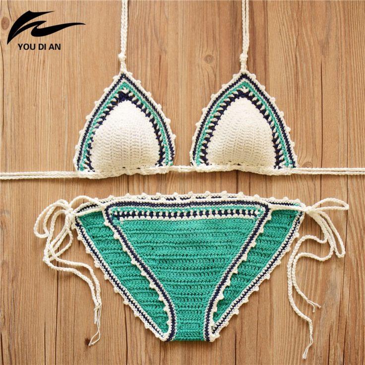 Sexy traje de baño de las mujeres bikinis 2017 bikini brasileño set hecho a mano de ganchillo biquinis traje de baño trajes de baño femeninos maillots de bain