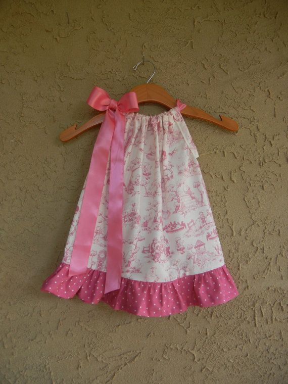 Pink Nursery Rhyme Toile Pillowcase Dress sizes by theuptownbaby & 232 best Pillowcase Dresses Instructions \u0026 Ideas images on ... pillowsntoast.com
