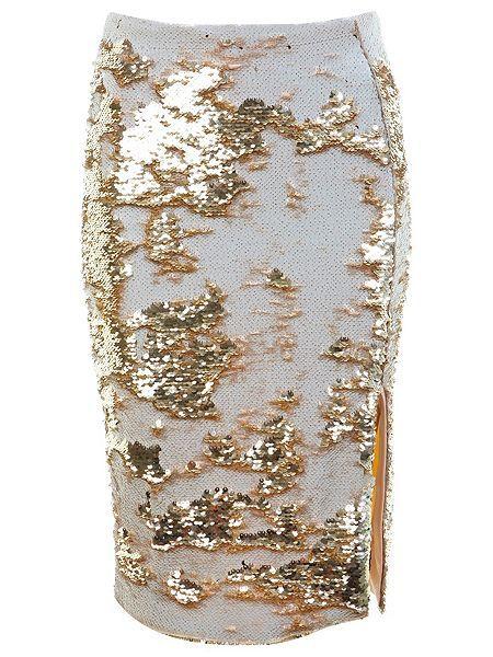 mixed sequin pencil skirt $70
