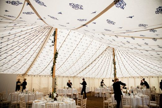 Indian motif lined wedding tent