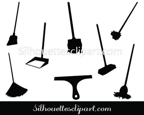Cleaning Items Silhouette