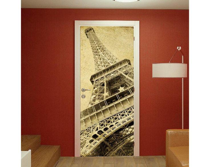 Eiffel tower vintage, αυτοκόλλητο πόρτας , δείτε το!