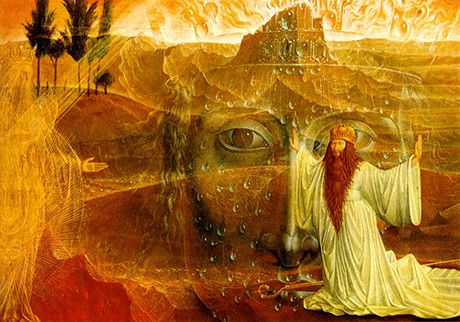 Moses and the Burning Bush by Ernst Fuchs.