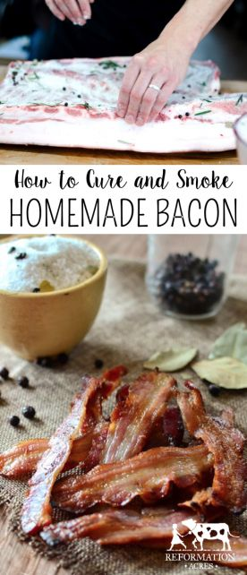 Learn how to cure and smoke your own homemade bacon! Come and see our new website at bakedcomfortfood.com!