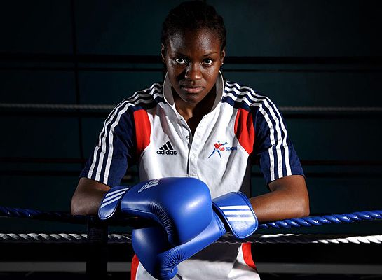 History girl: Nicola Adams, Great Britain's world nuber two, will be one of 36 women in the historic first ever women's Olympic boxing compe...