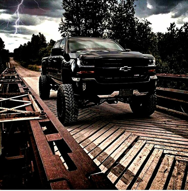Follow us to see more badass lifted, diesel or gas trucks. Cummins, Duramax or Powertroke -we love all! So, bring on the big Chevy, GMC, Ram, Dodge, Ford or Jeep trucks. I like to see them in the mud, on the dragstrip, or just cruising the street. #Chevy