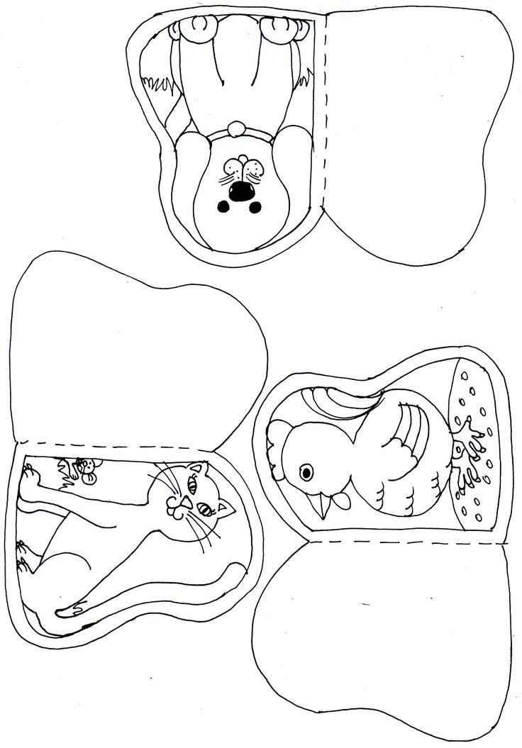 Állatos papírbábok