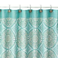 New SONOMA life + style Tiburon Fabric Shower Curtain Teal Gray