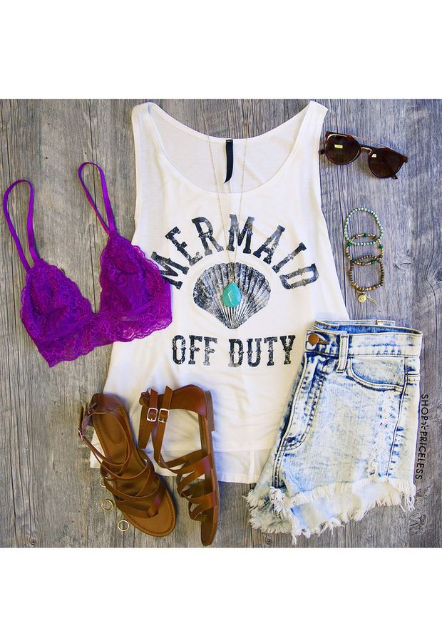 Mermaid Off Duty Top