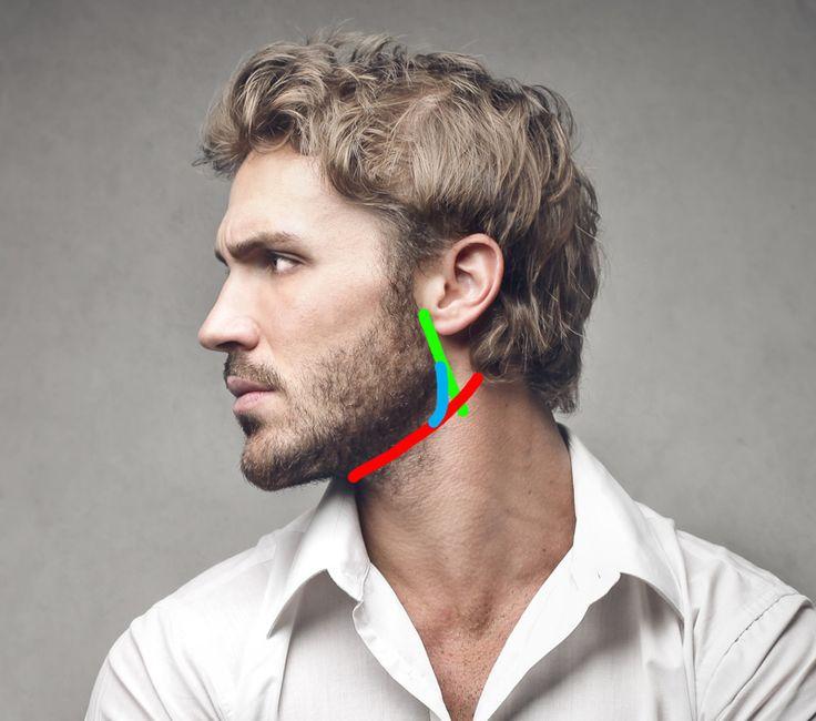 Bart trimmen - Die Halslinie   Bart trimmen, Bart konturen
