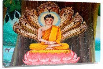 Cuadro Buda pintado