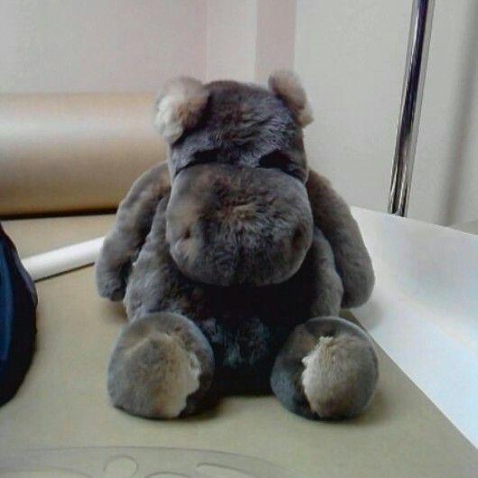 Бегемот из меха кролика