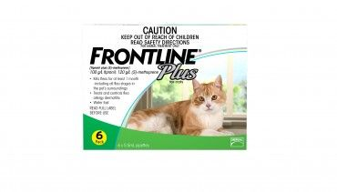 Frontline Plus Cat Top Spot -For complete flea and tick control in cats. Kills adult fleas and prevents egg, larval and pupal development.