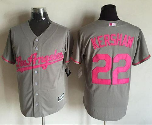 8d074e98d 78a70 5f468  order dodgers 22 clayton kershaw grey new cool base mothers day  stitched mlb jersey 65ea9 da4b6