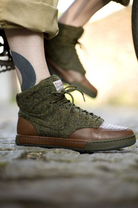Nike collaboration with Harris Tweed...loving this...grunge or dapper...works well   xx