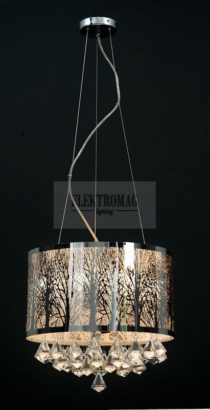 ITALUX LAMPA WISZĄCA ASTER MDM1655/4 : Lampy wiszące z kryształami : Sklep internetowy Elektromag (#glamour #lamp)