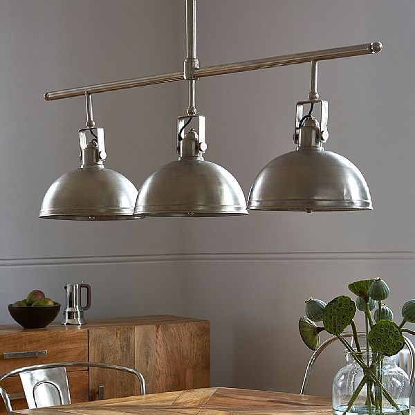 Hector industrial style triple ceiling light