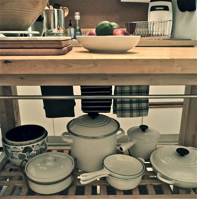 Smarter Alec: The White Le Creuset and vintage serving pieces