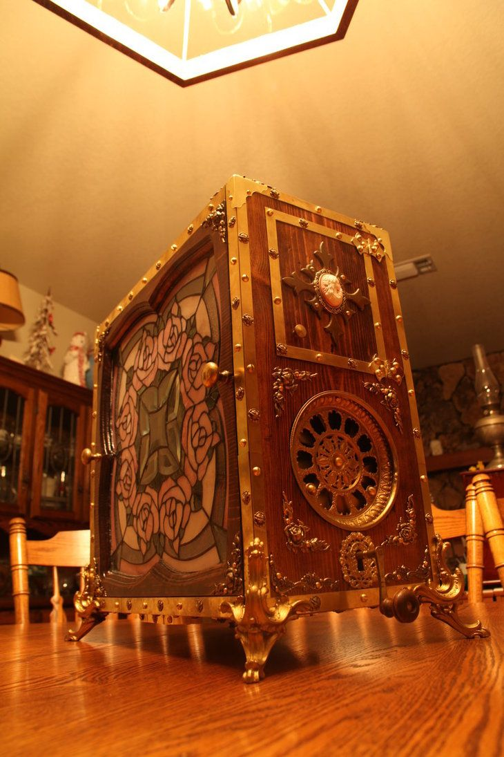 Welcome to the surreal steampunk apartment where jules verne meets tim - One Of The Most Unique Computer Cases I Have Seen In A Long Time It Harkens To The Days Of Yester Year My Only Conern Would Be Having To Wind It Up Each