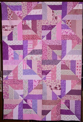 Strip Twist Quilt--another stash buster--when you can't remember WHY you bought THAT fabric LOL