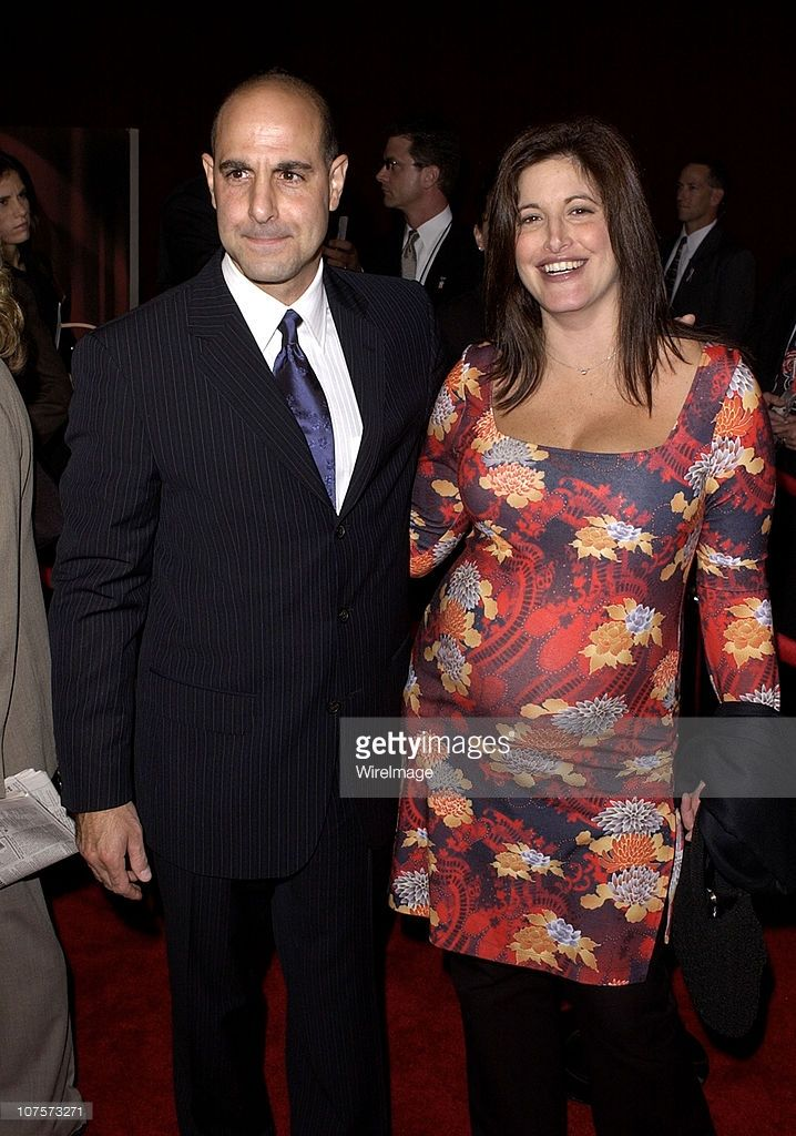 Stanley Tucci & sister Christine arrive for the 53rd Annual Primetime Emmy Awards.