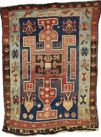 An Avar rug Caucasus size approximately 3ft. 3in. x 4ft. 5in.