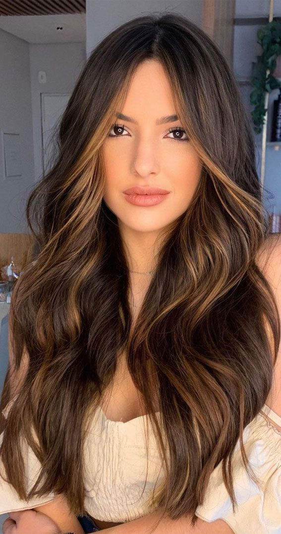 Trendy Brown Hair Colour Ideas For 2021 : brown & melted caramel in 2021 | Balayage hair, Hair inspiration color, Hair inspo color