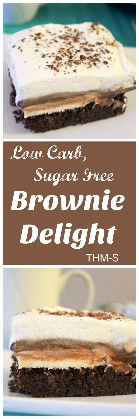 Best Brownie Delight (THM-S, Low Carb, Sugar Free)