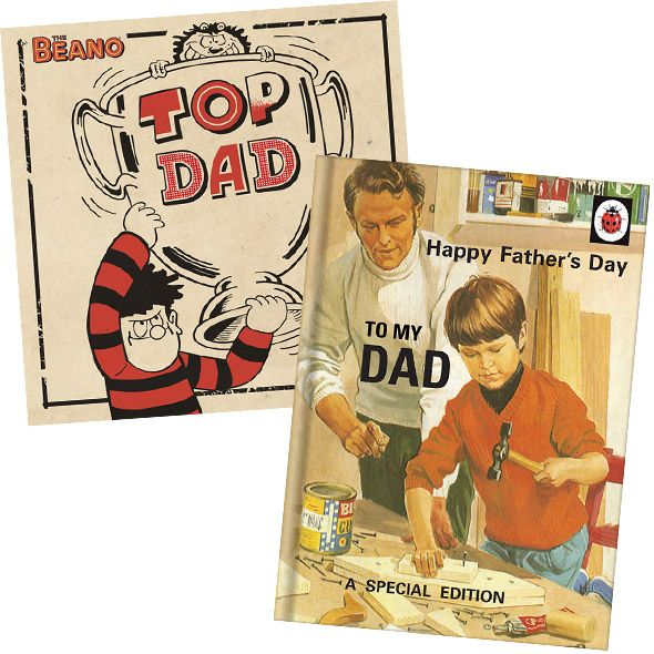 Retro Father's Day Cards including #LadybirdBooks and #TheBeano from £2 & Free 1st Class Delivery at https://www.danilo.com/Shop/Cards-and-Wrap/Seasonal-cards