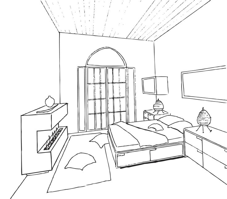 Interior Design Bedroom Sketches Multi Story Purpose By Linda Betts At Coroflot Ft3