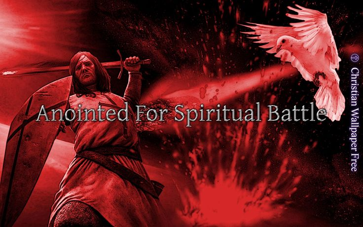 Anointed For Spiritual Battle In Red Inked