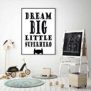 Bekijk de foto van beccas-studio met als titel Voor alle superhelden is deze zwart wit poster voor de kinderkamer te leuk om niet op te hangen. Boven het bedje slapen als een echte superheld. De tekst Dream big little superhero met de afbeelding van een superheld maakt het helemaal af. Leuk om te geven als kraamcadeau! Je kan deze en heel veel andere leuke posters bestellen op www.beccas-studio.nl bij de posters/kinderkamerposters en posters/babykamerposters en andere inspirerende p...