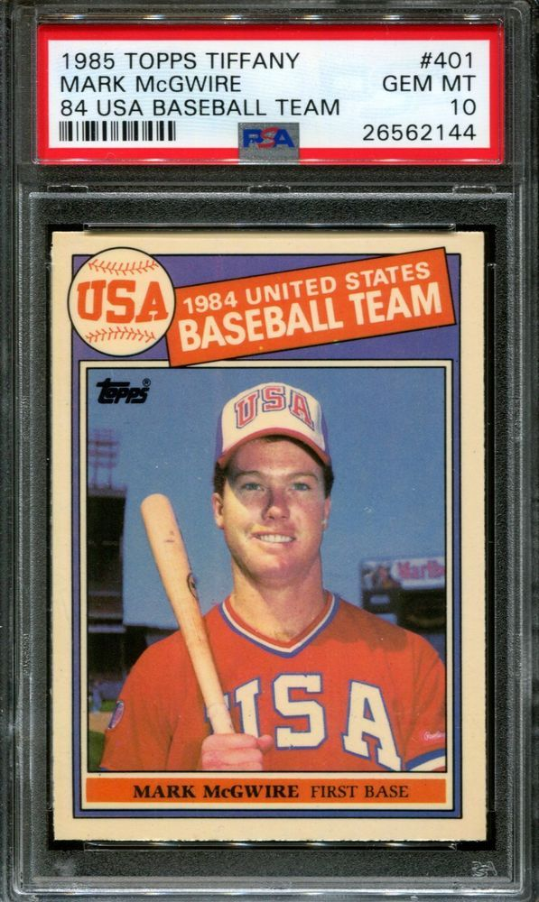 1985 Topps Tiffany Mark Mcgwire Rookie Psa 10 Sports Cards