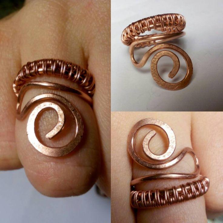 Anello in rame; Per sapere il prezzo visitate la pagina facebook, https://www.facebook.com/creazionirame/ #rame#anelli#artigianato#gioielli#wire#bijou#wire#rings#ring#bijoux#handmade