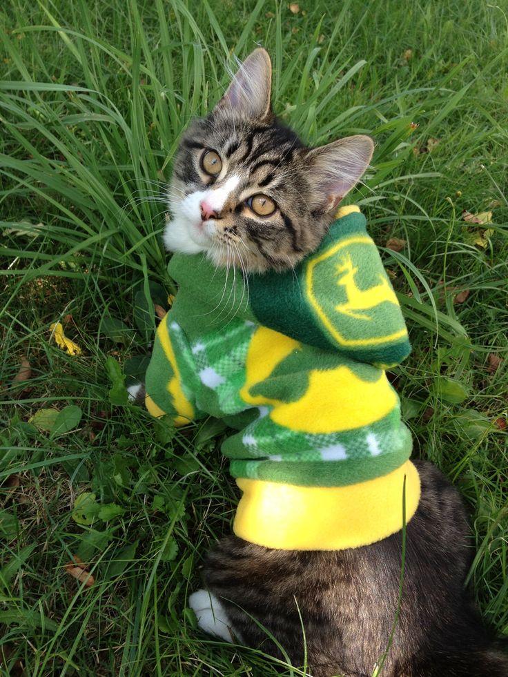 Custom John Deere Cat/Dog Hoodie by GypsyEyesClothing on -@Jessic
