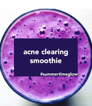 Acne clearing smoothie recipe, heal your face with food, jill therese, acne clearing natural acne clearing