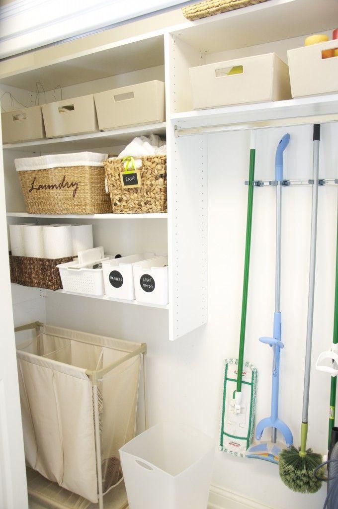 Organized Laundry Room Closet Laundry Room Idea Pinterest