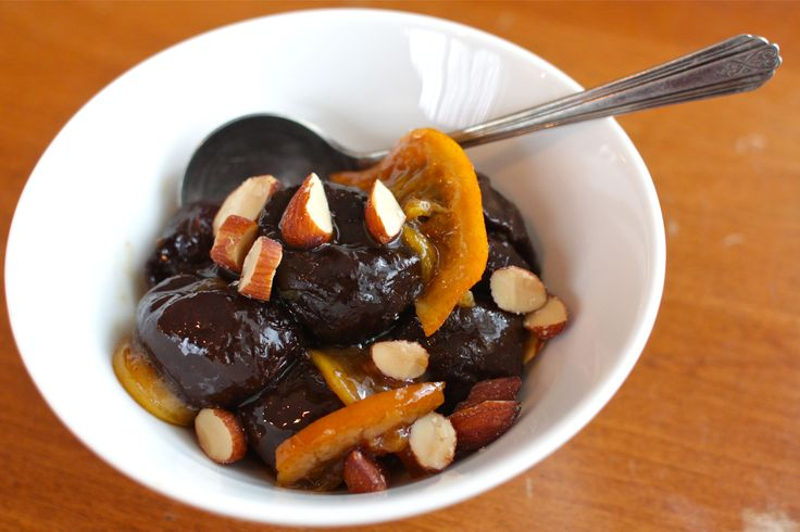 Stewed Prunes with Citrus & Cinnamon- post delivery meal for natural laxative- great idea!!!
