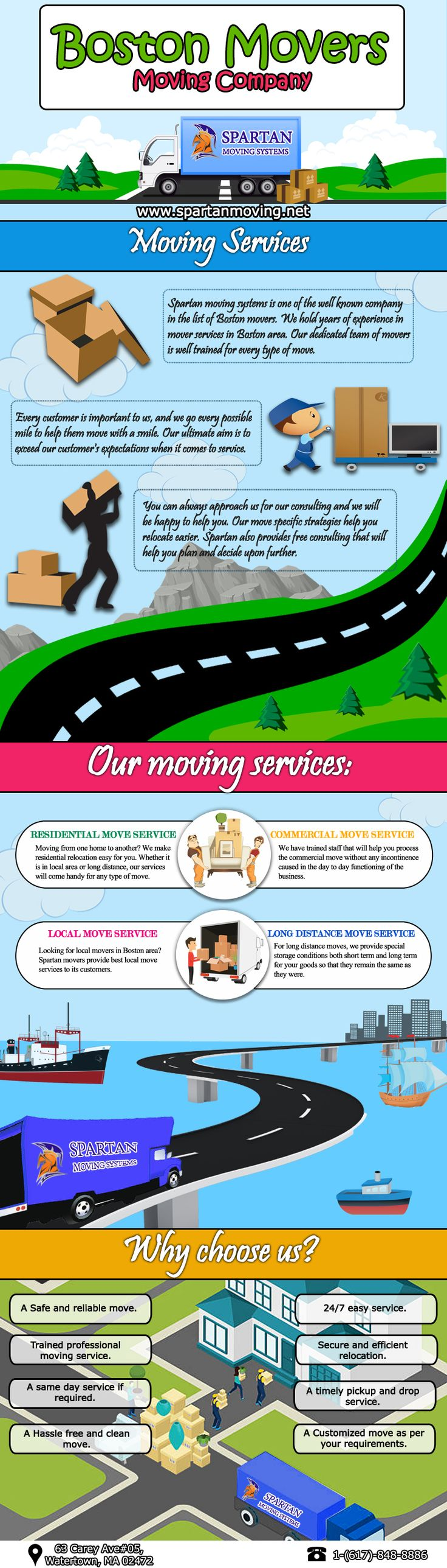 Boston Moving Services. A Safe and reliable move. Trained professional yet friendly crew for moving service. Best Massachusetts movers.