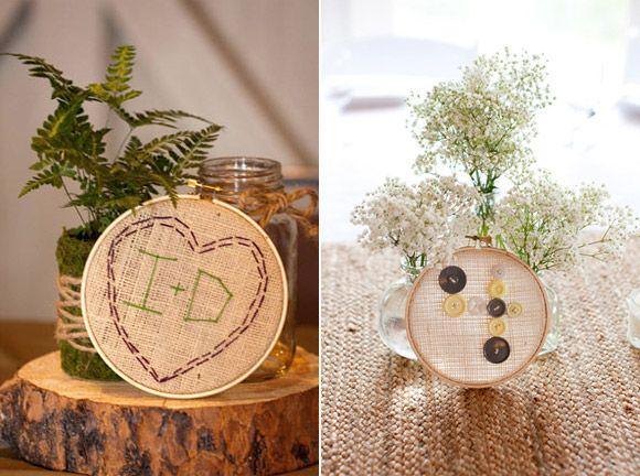 decorar la boda originales ideas con bastidores
