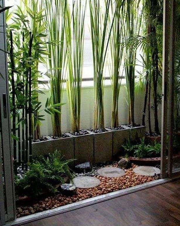 Love This Bamboo Tall Grass Wall Barrier Idea To Give Privacy In