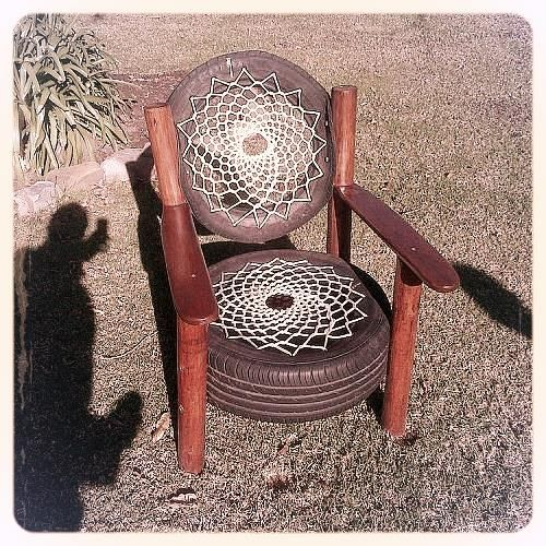 Two {Repurposed} Tires become a Unique {Sitting} Chair!: Recycled Tyre, Reuse, Backpacker, Roads Backpacks, Rocky Roads, Chairs ️ ️ ️ ️ ️, Photo, Tired Chairs, Unique Chairs