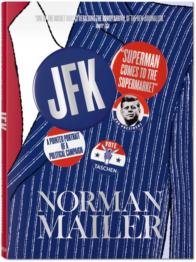 "Norman Mailer's pro-JFK profile and seminal New Journalism showpiece ""Superman Comes to the Supermarket,"" originally published in Esquire in 1960, now rediscovered in photo book form. Alongside the complete Mailer portrait of JFK as the ""existential hero,"" see Kennedy's campaign and personal life captured by such photojournalistic greats as Cornell Capa, Jacques Lowe, Paul Schutzer, and Garry Winogrand.. Published by TASCHEN Books"
