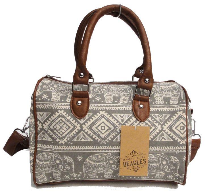 Beagles Vintage Elephant India Aztec Patterned Top Handle Cross-body Shoulder Bag Purse Hand Bag Retro by BagintheDays on Etsy