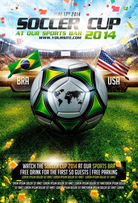 brazil soccer cup 2014 flyer template     ffflyer