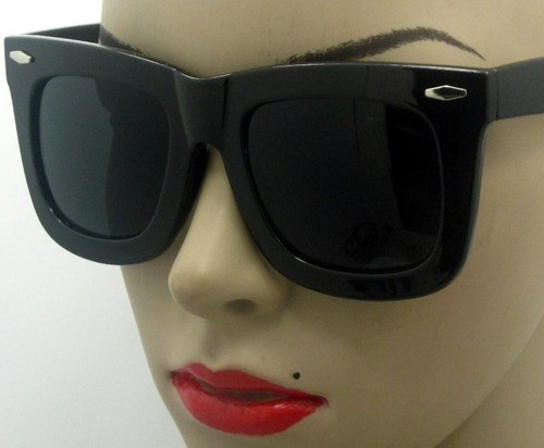 Mouse over image to zoom    Have one to sell? Sell it yourself  Retro Style Oversize Thick Urban Rave Party STATUS Wayfarer Sunglasses X-Large